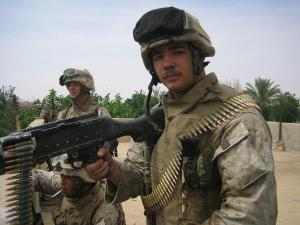Machine gunners with Company K, 3d Battalion 2d Marines in Iraq.