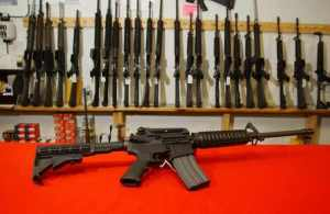 Semi-automatic weapons like these can be purchased by nearly anyone with a credit card and clear background check.
