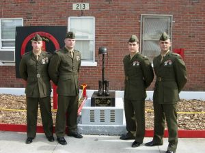 Memorial for members of 3rd Battalion 2nd Marines who were killed in action during fighting in Iraq.