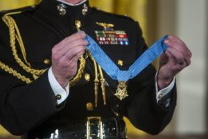 The Nation's top medal for valor has been awarded 15 times during the War on Terror - far less than in previous major conflicts.